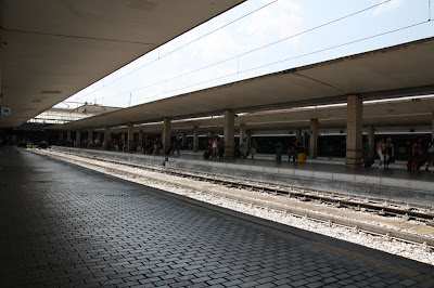 The Florence (Firenze) train station just after our arrival to our final destination.