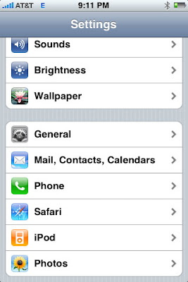 Fixed! iPhone 2.2 Upgrade Low Battery Life - Click on the General option on the settings Menu.