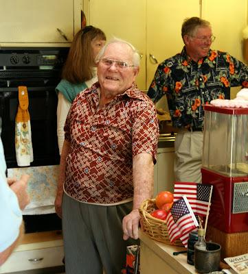 My grandpa on his 95th birthday.
