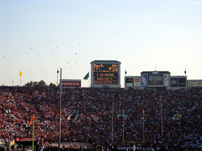 Because, as it approached halftime and just before it became 31-7, the vultures were already circling around Penn State.  See the buzzards in the pictures?
