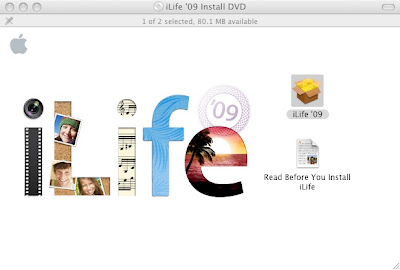 Upgrading my Mac Mini to iLife '09 from iLife '08