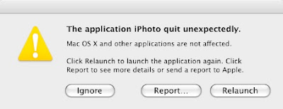 Empty Trash function causes iPhoto to crash or quit unexpectedly.