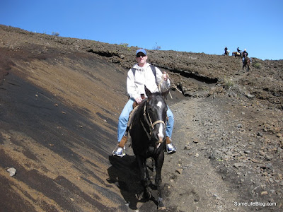 Sunrise and Tours at Haleakala Volcano Crater: Kenny on his horse Joe.
