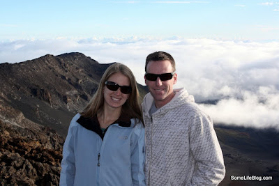 Sunrise and Tours at Haleakala Volcano Crater: Posing in front of the Haleakala crater.