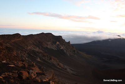 Sunrise and Tours at Haleakala Volcano Crater: Looking Out Over the Crater