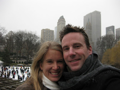 The start of the snow falling in Central Park. We were considering ice skating, but passed on this trip just to walk and enjoy the lightly falling snow in the city.