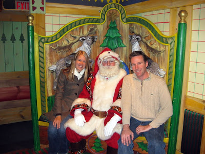 Ashley and I hanging out with Santa Claus in the Winter Wonderland at Macy's. The wait was only 45 minutes on Saturday as opposed to 2 hours the previous weekend. Whew.