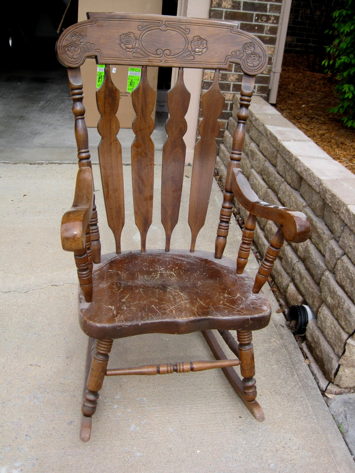 Refinishing A Rocking Chair | Between 3 SistersBetween 3 Sisters
