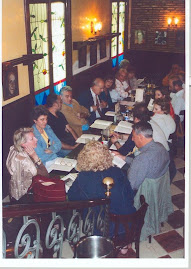 "Miembros de ""Verbo Azul"" en el Café Gijón (fotos de Rafael Gálvez)"