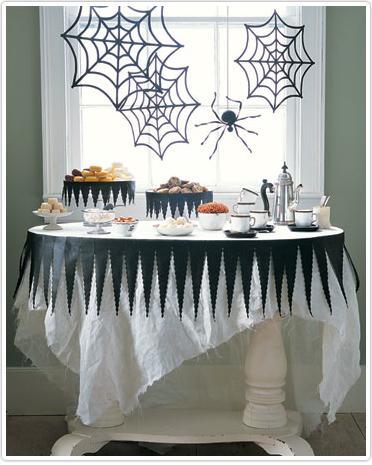 Una mesa de halloween para hacer en 10 minutos - Decoracion mesa halloween ...