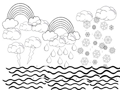6 Days Of Creation Coloring Pages Colouring