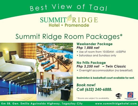 Summit Ridge Room Rates