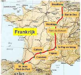 Route Frankrijk