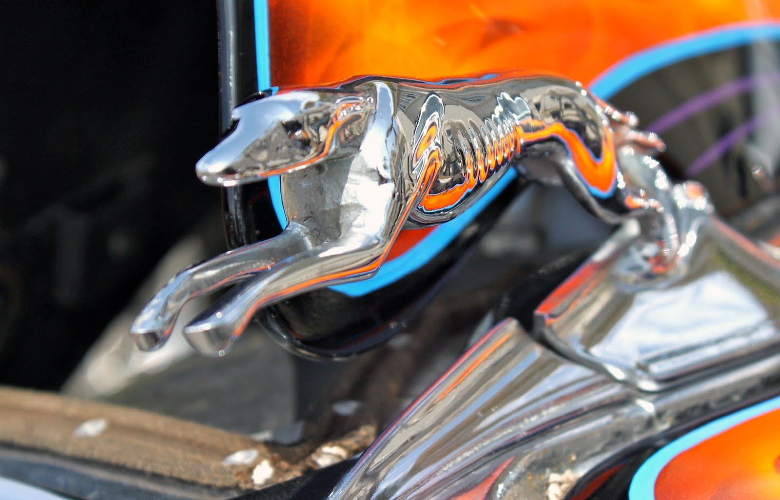 Hood ornaments at the car show