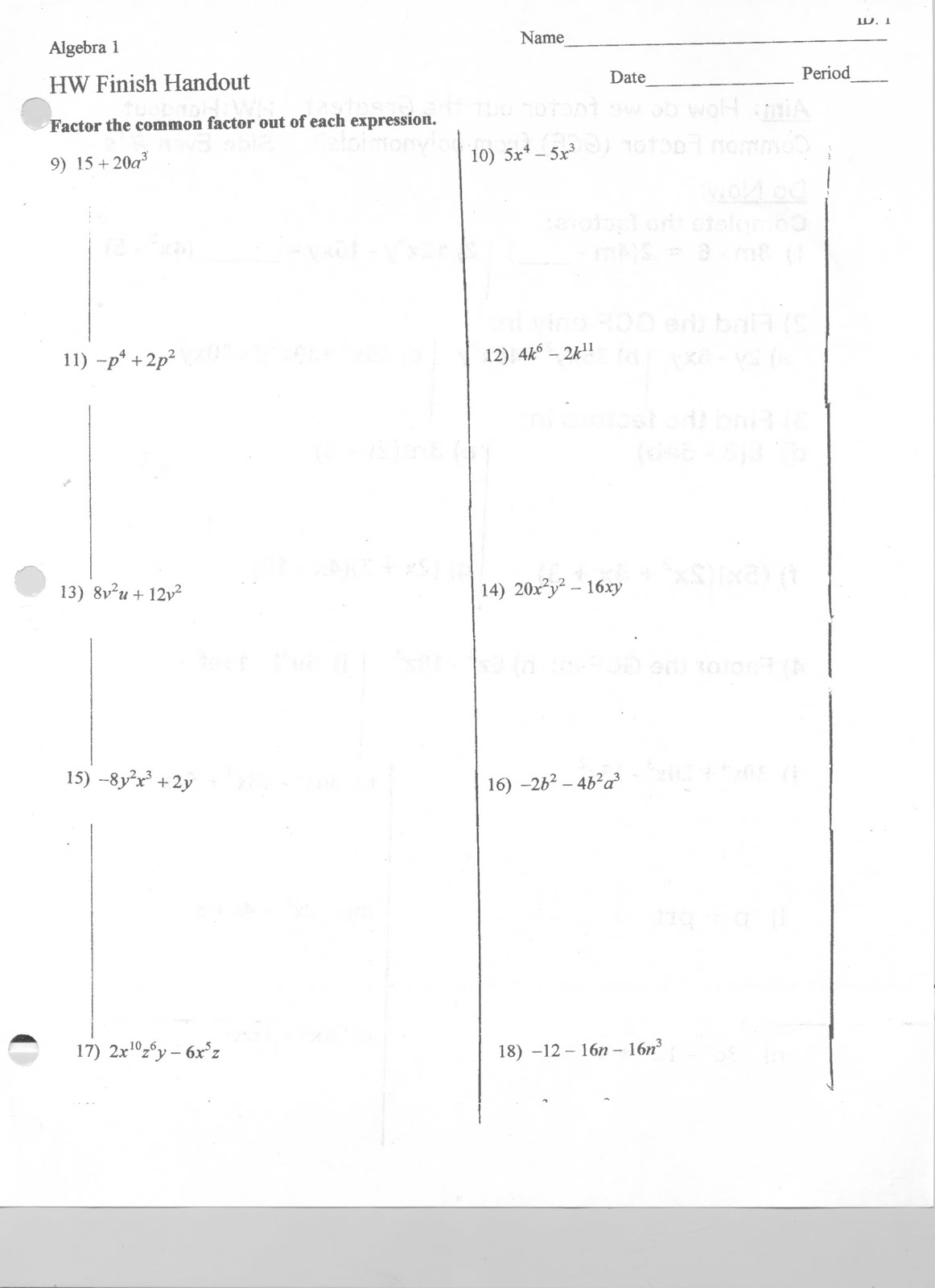 Factoring Difference Of Two Squares Worksheet - Davezan