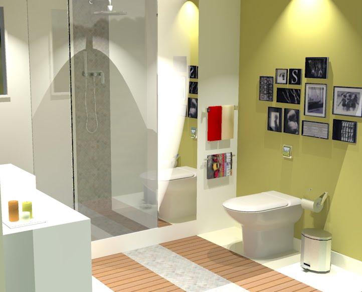ideias e projetos de decoracao de interiores:Decoração de casas de banho