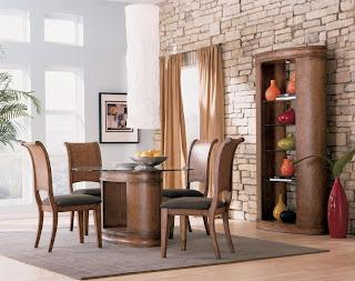 Ideias de decoração e mobiliário, mesa jantar estilo rústico.