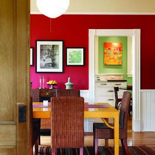 ideias decoracao mobiliario | sala decorada a vermelho