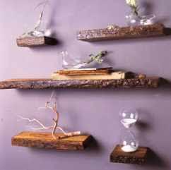 Ideias de decoração | prateleiras rústicas em madeira