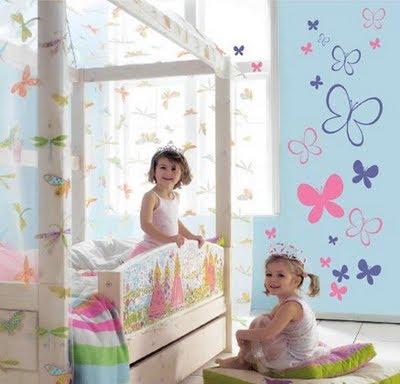 decoração mobiliário | adesivos decorativos quarto de bebé menina