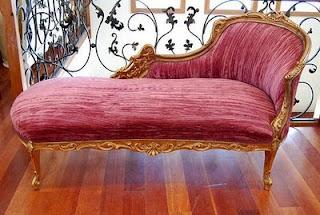 ideias decoração mobiliario | chaise longue vermelha