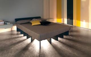 Ideias decoração mobiliário | cama casal iluminada