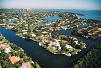 Coral Gables waterfront community offering immediate bay and ocean access