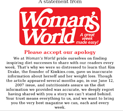 Woman's World Magazine apology