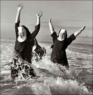 group of nuns laughing