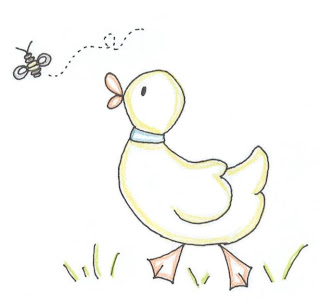 "Feel free to print the ""Duck and Bee"" embroidery design and enlarge or"