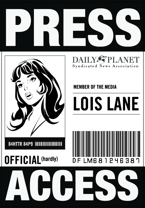 Effortless image intended for lois lane press pass printable