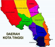 Peta Daerah Kota Tinggi