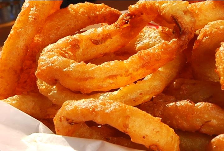 ... onion rings day yeah i know this is french fry diary but onion rings
