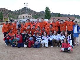 L'Afició Jove amb l'equip
