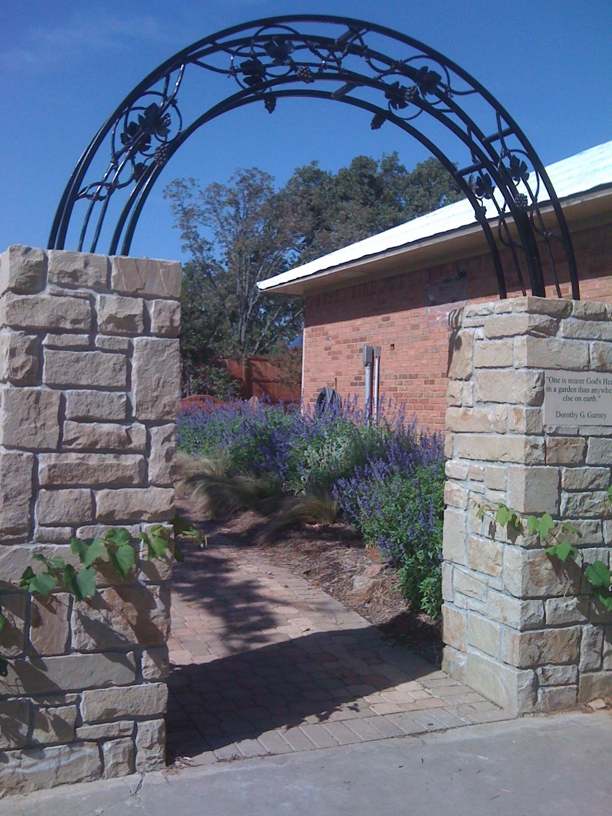 Stone Pillar Arch : Signature gardens a sanctuary garden