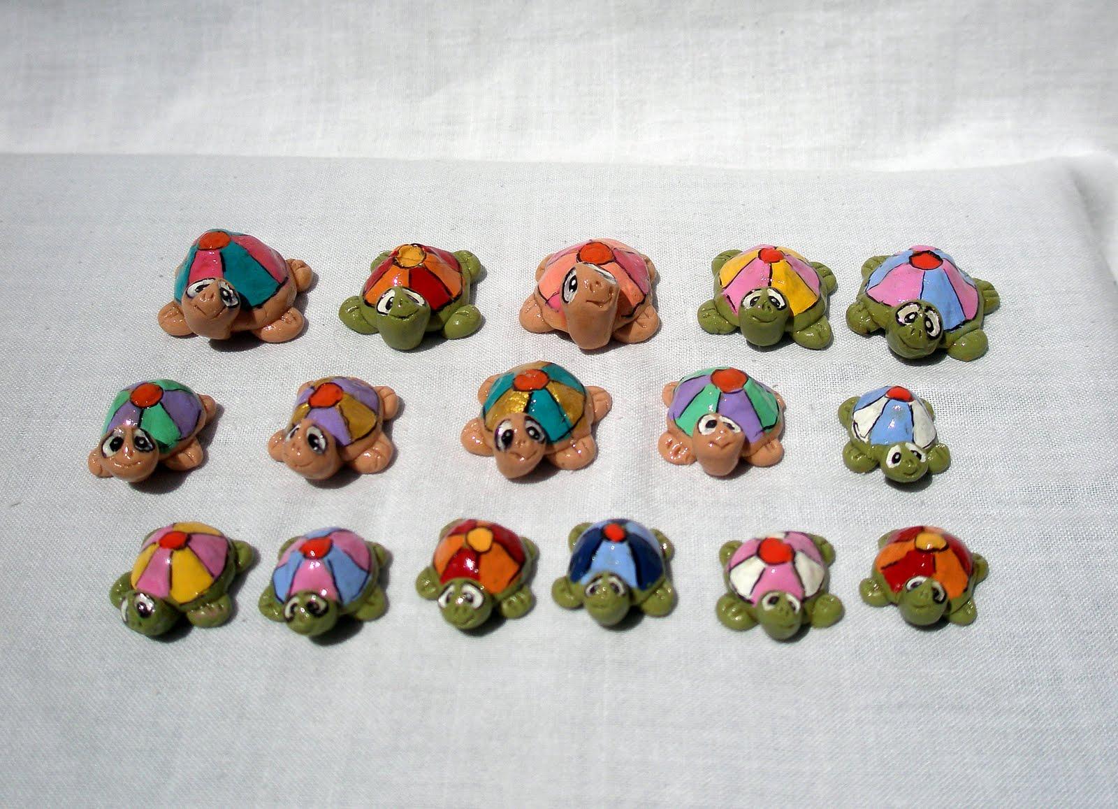 Fra fimo e arte un esercito di tartarughe for Sassi per tartarughe
