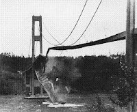 la ponto Tacoma Narrows kaj detruinta resonanco