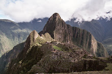 Machu Picchu, viewed from across the valley, Peru