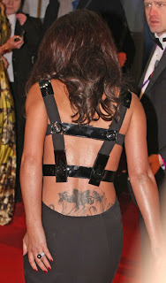 Cheryl Cole Back Tattoo Design