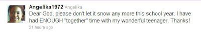 Angelika's Tweet to God