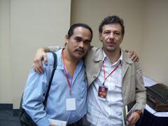 Con Álvaro Enrigue, escritor mexicano