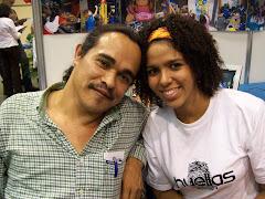 Con la pintora Martanoemí Noriega