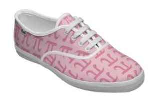 Pi Day Shoes for a Girl Geek