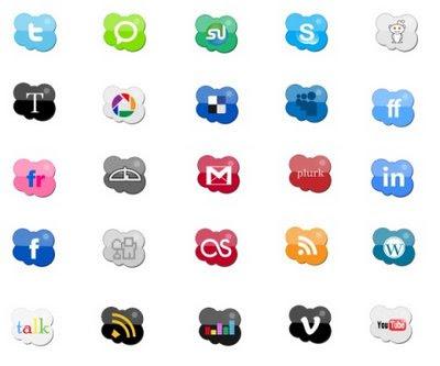 Web Social Icon Set