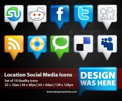 Location: Free social media icon set
