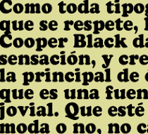 COOPER BLACK FETICHE