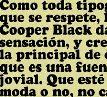 COOPER BLACK FETICHE