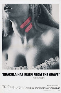I like how they say 'Obviously!' but if you watch the movie you find that Dracula has not risen from the grave, he's risen from the moat. Fucking stupid advertising copywriters.