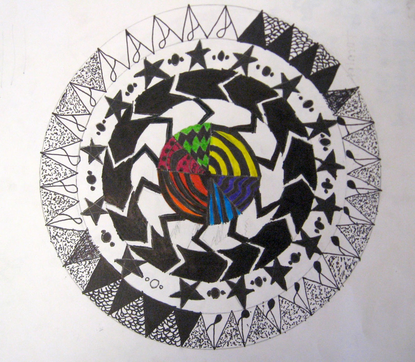 Radial Design Art : Art is basic teacher radial pattern design