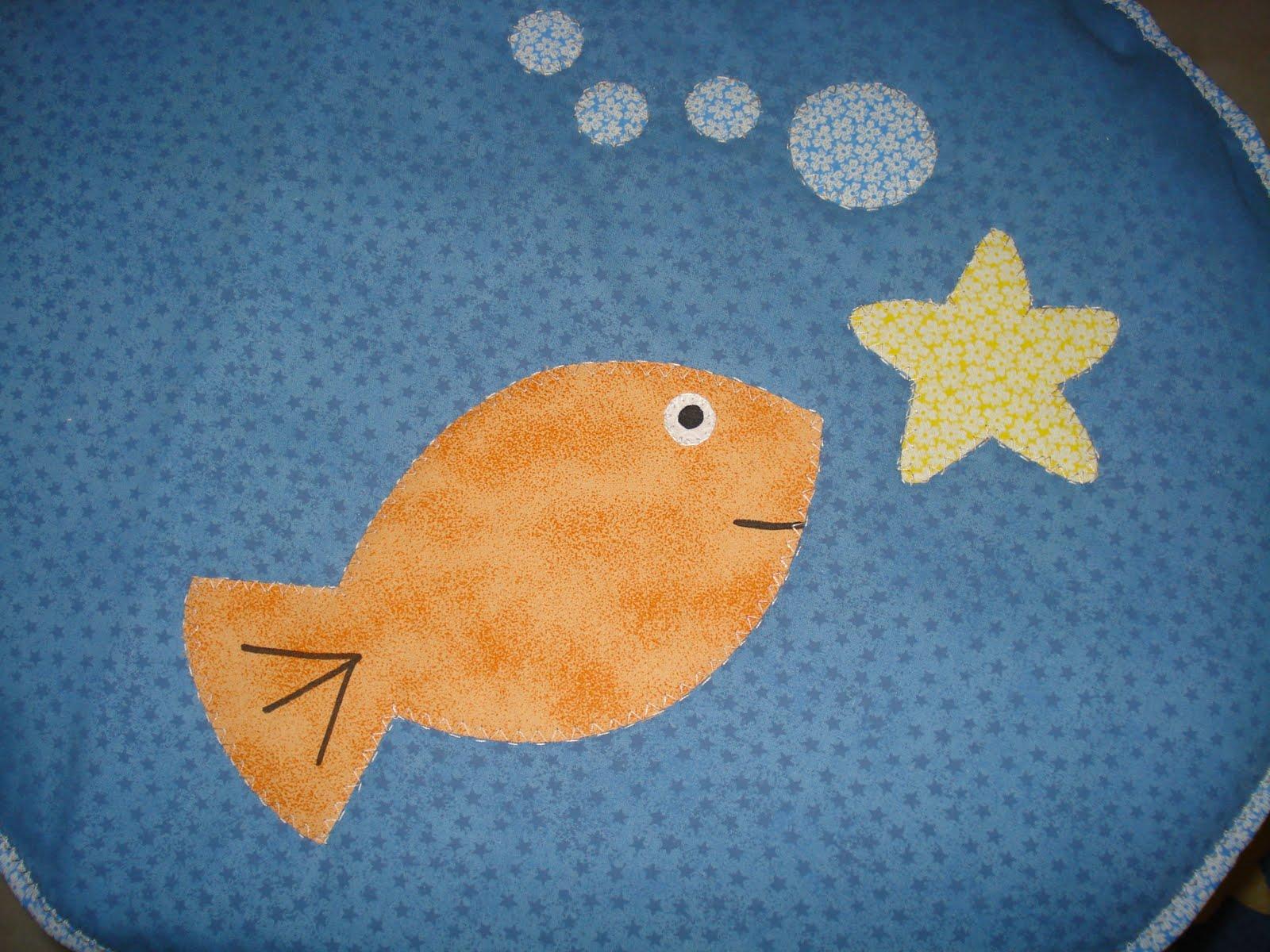 Patchwork Em Tapete De Banheiro : Patchwork By Dete: Peixes!!